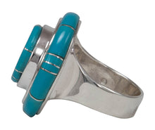 Load image into Gallery viewer, Navajo Native American Sleeping Beauty Turquoise Ring Size 8 1/2 by Calvin Begay SKU231410