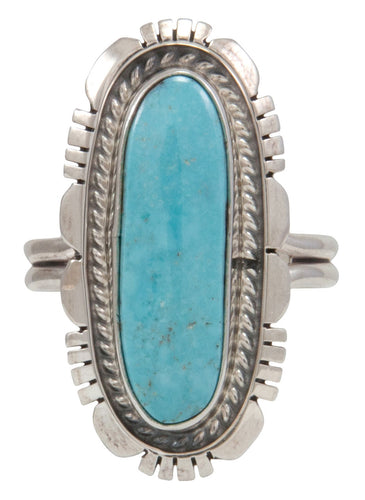 Navajo Native American Kingman Turquoise Ring Size 10 by Robert Concho SKU231491