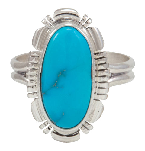 Navajo Native American Kingman Turquoise Ring Size 10 by Robert Concho SKU231492