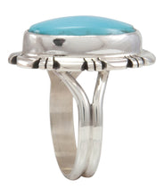 Load image into Gallery viewer, Navajo Native American Kingman Turquoise Ring Size 7 by Robert Concho SKU231493