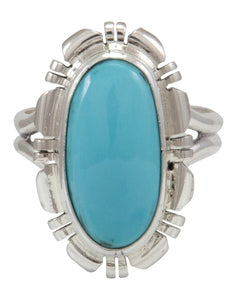 Navajo Native American Kingman Turquoise Ring Size 7 by Robert Concho SKU231493