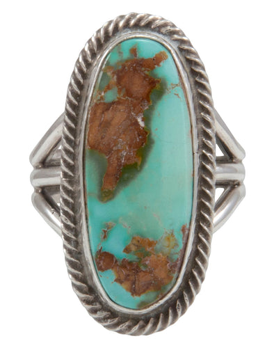 Navajo Native American Royston Turquoise Ring Size 8 1/2 by Rick Martinez SKU231495