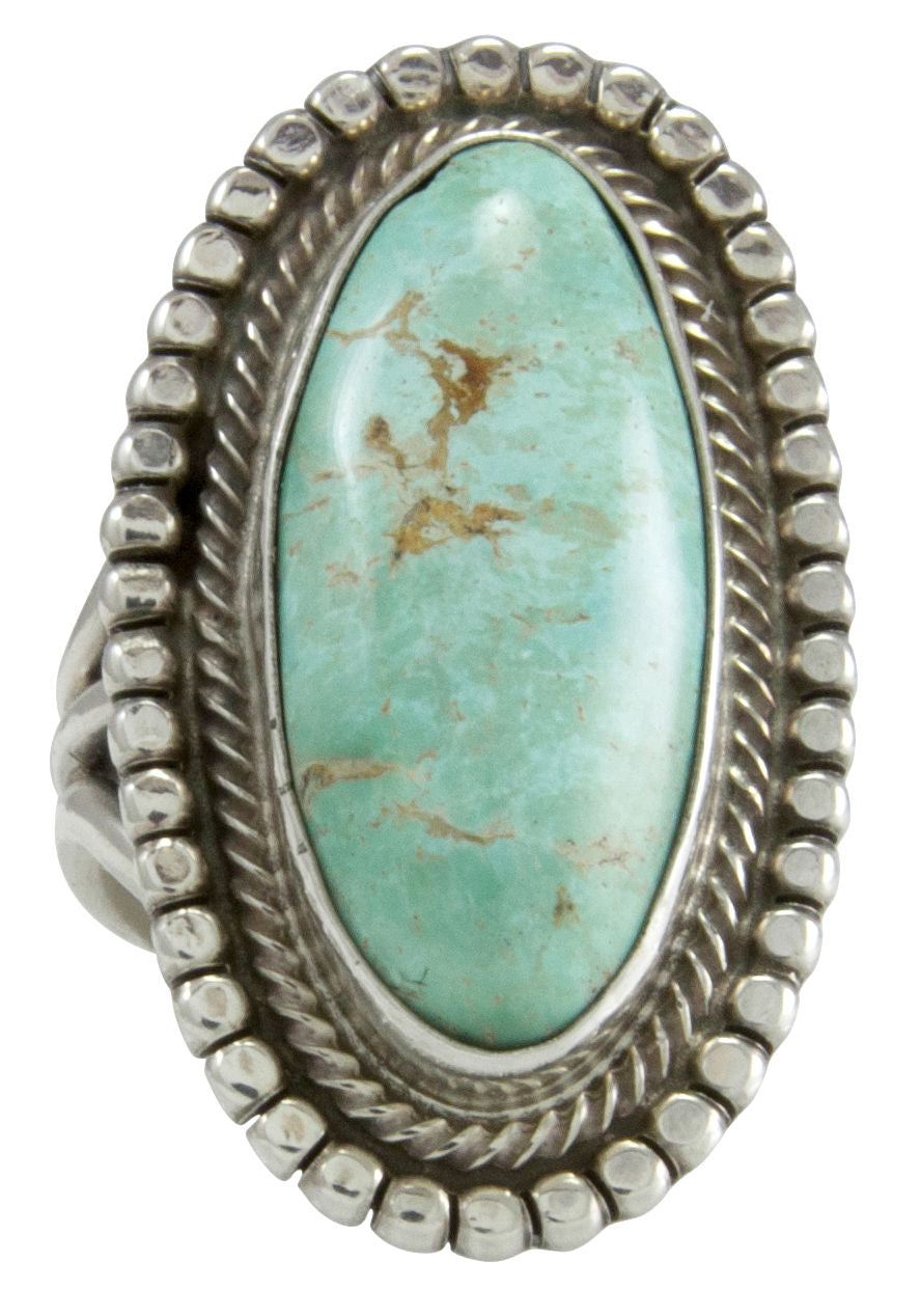 Navajo Native American Royston Turquoise Ring Size 8 by Rick Martinez SKU231500