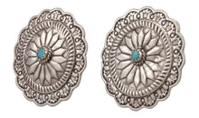 Load image into Gallery viewer, Navajo Native American Turquoise Concho Earrings SKU231505