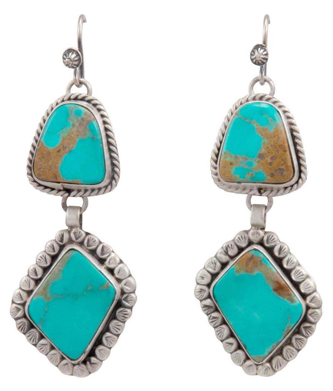 Navajo Native American Royston Turquoise Earrings by Martha Willeto SKU231517