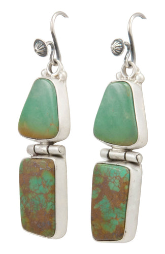 Navajo Native American Turquoise Mountain Turquoise Earrings by Martha Willeto SKU231531