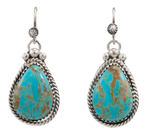 Navajo Native American Kingman Turquoise Earrings by Martha Willeto SKU231534
