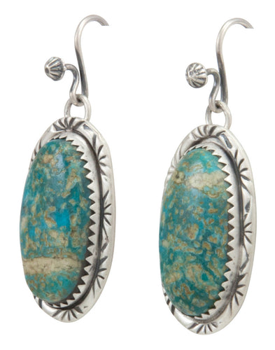 Navajo Native American Kingman Turquoise Earrings by Martha Willeto SKU231538