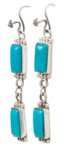Navajo Native American Kingman Turquoise Earrings by Martha Willeto SKU231544