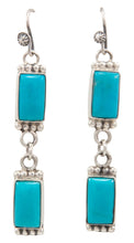 Load image into Gallery viewer, Navajo Native American Kingman Turquoise Earrings by Martha Willeto SKU231544