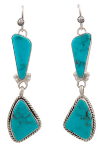 Navajo Native American Kingman Turquoise Earrings by Martha Willeto SKU231547