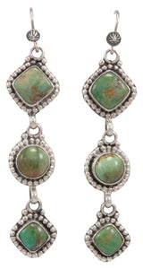 Navajo Native American Kingman Turquoise Earrings by Martha Willeto SKU231548