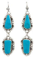 Load image into Gallery viewer, Navajo Native American Kingman Turquoise Earrings by Martha Willeto SKU231550