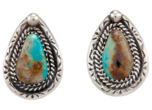Load image into Gallery viewer, Navajo Native American Kingman Turquoise Earrings by Martha Willeto SKU231554