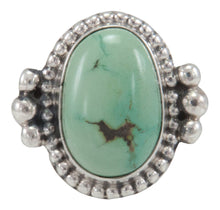 Load image into Gallery viewer, Navajo Native American Carico Lake Turquoise Ring Size 5 3/4 by Willeto SKU231580