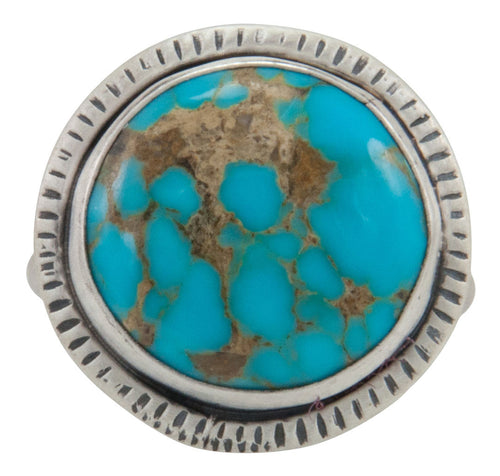 Navajo Native American Turquoise Mountain Ring Size 8 1/4 by Willeto SKU231581