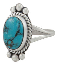 Load image into Gallery viewer, Navajo Native American Pilot Mountain Turquoise Ring Size 6 3/4 by Willeto SKU231589