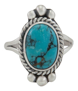 Navajo Native American Pilot Mountain Turquoise Ring Size 6 3/4 by Willeto SKU231589