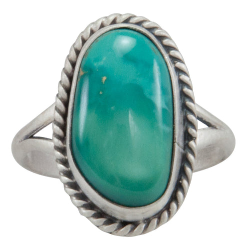 Navajo Native American Royston Turquoise Ring Size 6 1/2 by Willeto SKU231596