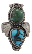 Load image into Gallery viewer, Navajo Native American Royston and Lone Mountain Turquoise Ring Size 7 by Willeto SKU231602