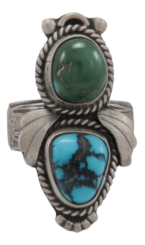 Navajo Native American Royston and Lone Mountain Turquoise Ring Size 7 by Willeto SKU231602