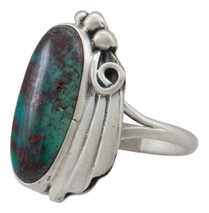 Navajo Native American Deep River Chrysocolla Ring Size 8 1/4 by Willeto SKU231626