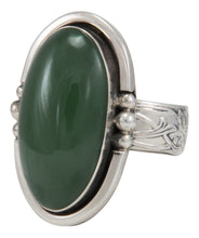 Load image into Gallery viewer, Navajo Native American Alaskan Jade Ring Size 9 1/2 by Willeto SKU231634