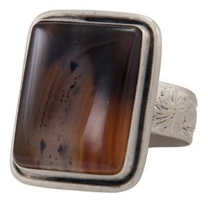 Navajo Native American Montana Agate Ring Size 8 3/4 by Willeto SKU231635