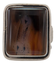 Load image into Gallery viewer, Navajo Native American Montana Agate Ring Size 8 3/4 by Willeto SKU231635
