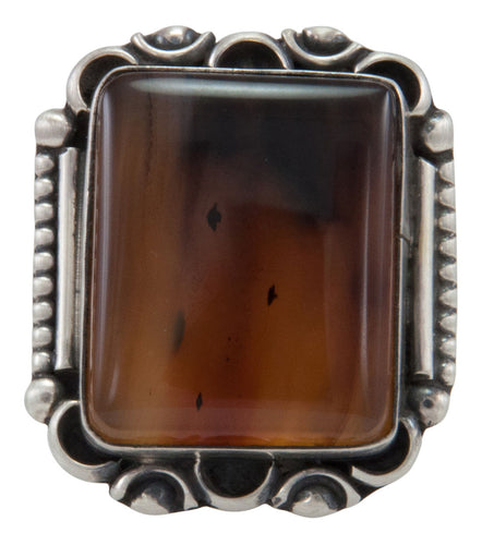 Navajo Native American Montana Agate Ring Size 7 1/2 by Willeto SKU231636