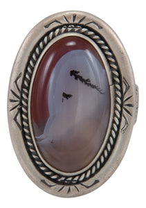 Navajo Native American Montana Agate Ring Size 9 by Willeto SKU231637