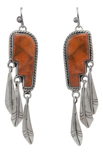 Navajo Native American Sponge Coral Earrings by Martha Willeto SKU231642