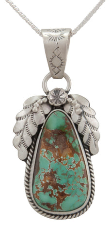 Navajo Native American Royston Turquoise Pendant Necklace by Martha Willeto SKU231658