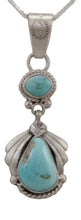 Load image into Gallery viewer, Navajo Native American Sleeping Beauty Turquoise Pendant Necklace by Martha Willeto SKU231671