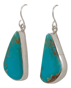 Navajo Native American Kingman Turquoise Earrings by Sam Harrold SKU231716