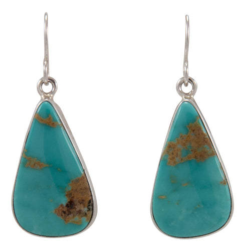 Navajo Native American Kingman Turquoise Earrings by Sam Harrold SKU231719