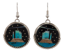 Load image into Gallery viewer, Navajo Native American Turquoise Inlay Butte Earrings by Gilbert Smith SKU231726