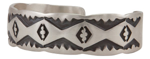 Navajo Native American Stamped Sterling Silver Bracelet by Nora Tahe SKU231735