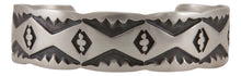Load image into Gallery viewer, Navajo Native American Stamped Sterling Silver Bracelet by Nora Tahe SKU231735