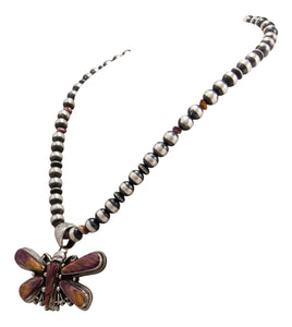 Navajo Native American Butterfly Shell and Navajo Pearl Necklace by Bernita Begay SKU231743