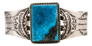 Navajo Native American Kingman Turquoise Bracelet by Dale Livingston SKU231861
