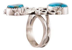 Navajo Native American Kingman Turquoise Ring Size 10 by Kenneth Jones SKU231869