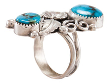 Load image into Gallery viewer, Navajo Native American Kingman Turquoise Ring Size 10 by Kenneth Jones