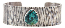 Load image into Gallery viewer, Navajo Native American New Landers Turquoise Bracelet by Monty Claw SKU231877