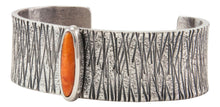 Load image into Gallery viewer, Navajo Native American Orange Spiny Oyster Shell Bracelet by Monty Claw SKU231878