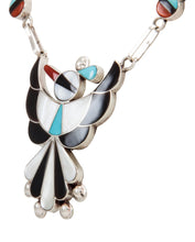 Load image into Gallery viewer, Zuni Native American Turquoise Inlay Thunderbird Necklace by Ahiyite SKU231894