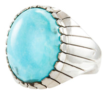 Load image into Gallery viewer, Navajo Native American Kingman Turquoise Ring Size 12 by Ray Jack SKU231898