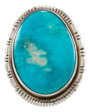 Load image into Gallery viewer, Navajo Native American Kingman Turquoise Ring Size 9 3/4 by Scott Skeets SKU231933