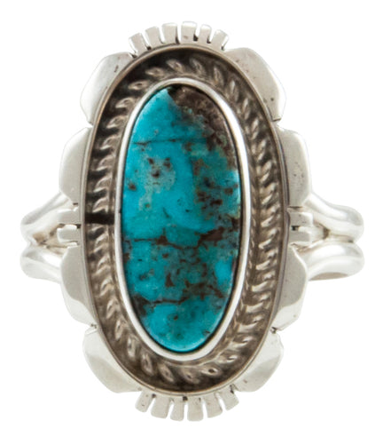Navajo Native American Kingman Turquoise Ring Size 8 3/4 by Robert Concho SKU231935