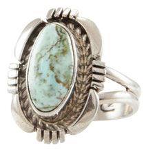 Load image into Gallery viewer, Navajo Native American Dry Creek Turquoise Ring Size 6 3/4 by Jeffery Nelson SKU231936